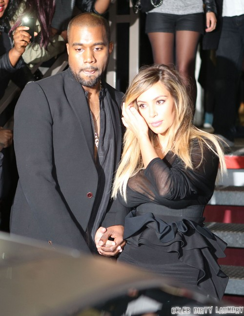 Kim & Kanye Leaving The Givency Fashion Show