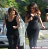 Kim & Kourtney Out For A Jog In Miami