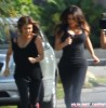 Kim & Kourtney Out For A Jog In Miami