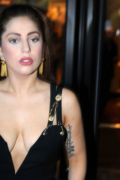 Lady Gaga Goes Topless for Donatella Versace
