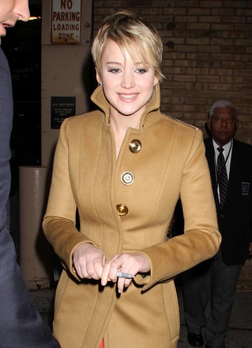 Jennifer Lawrence Visits ABC Studios