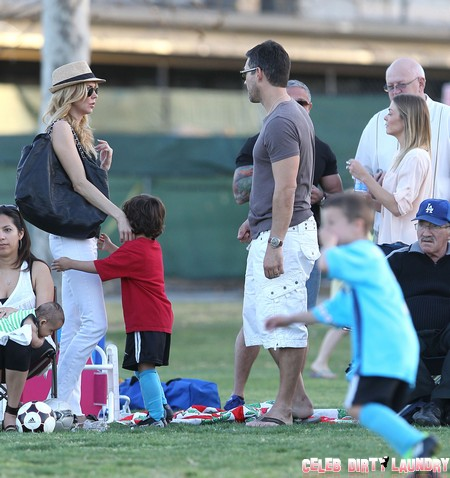 LeAnn And Eddie Cheering Jake On At His Soccer Game