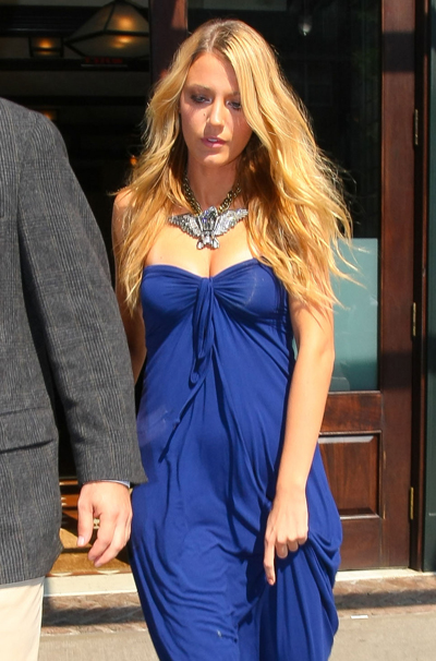 Blake Lively Totally Looks Pregnant, Right?