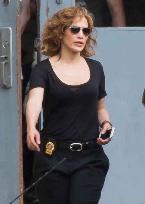 Jennifer Lopez Films Shades Of Blue In Nyc Celeb Dirty