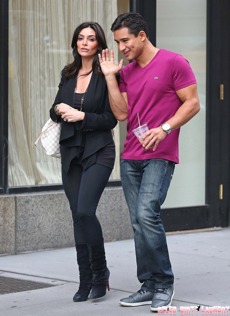 Mario Lopez and Girlfriend Courtney Laine Mazza Walk to Central Park