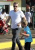 Exclusive... Chris Martin With His Kids At The Santa Monica Pier