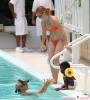 Jillian Michaels And Family Enjoying A Day At The Pool