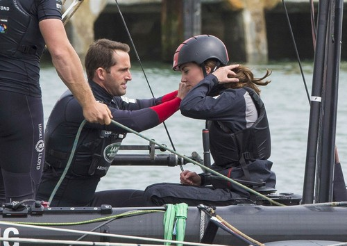 Kate Middleton Gets Trained In Sailing