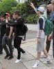 One Direction Gets Greeted By Fans As They Leave Their Hotel