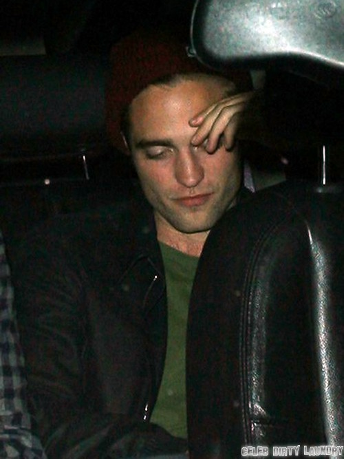 Robert Pattinson Tries to Sneak Out of Troubador in Hollywood
