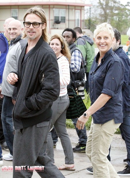 Brad Pitt And Ellen DeGeneres Team Up In New Orleans