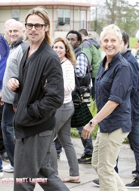 Brad Pitt And Ellen DeGeneres Team Up In New Orleans