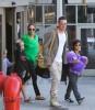 Brad Pitt, Angelina Jolie & The Kids Land At LAX Airport