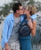 Semi-Exclusive... Charlie Sheen Locking Lips With His New Lady Brett Rossi