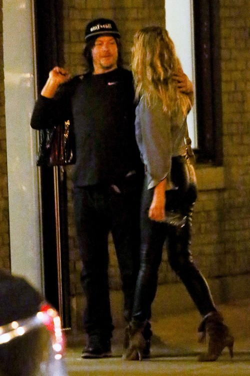 All The Girls Standing In The Line For The Bathroom: Exclusive... Norman Reedus Out With Mystery Woman In NYC