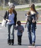 Semi-Exclusive... Jillian Michaels And Heidi Rhoades Take The Kids To The Farmer's Market