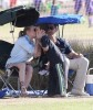 LeAnn & Eddie Watching His Son's Soccer Game