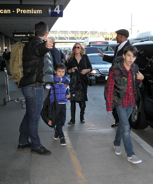 LeAnn Rimes & Family Catch A Flight Out Of LAX Airport