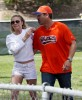 Exclusive... LeAnn Rimes Watches Eddie's Boys Play Ball