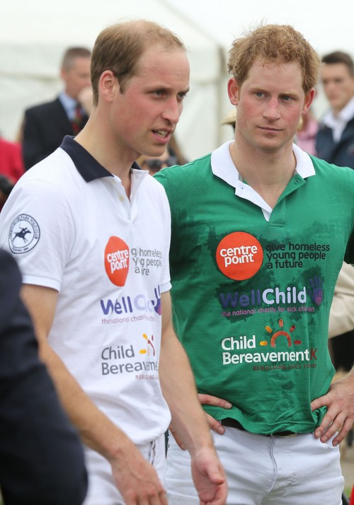 Kate Middleton & Prince George Watch Prince William & Prince Harry Play Polo
