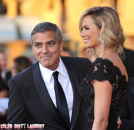 Report: Brad Pitt Pushes George Clooney To Propose To Stacey Keibler