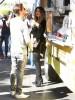 Scott Disick & Khloe Kardashian Film At The Grilled Cheese Truck