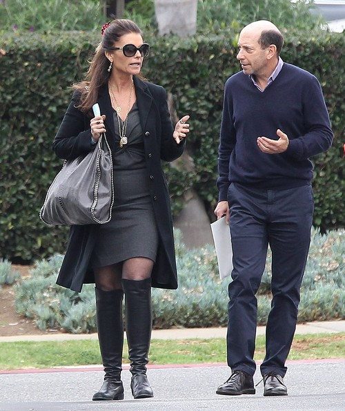 exclusive maria shriver lunches with a friend celeb