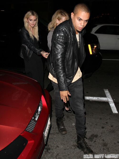 Ashlee Simpson and Evan Ross Have Date Night in Hollywood