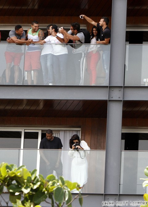 Kim & Kanye Party In Rio With Will Smith