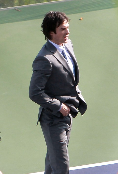 "Exclusive... Ian Somerhalder Has a Fight Scene on the Set of ""Time Framed"""