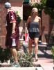 Britney Spears & David Lucado Lunch At Corner Bakery