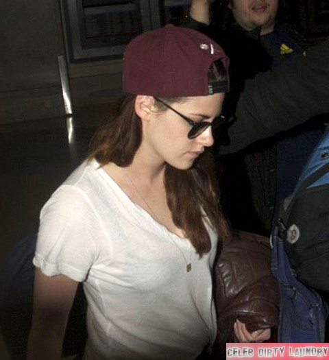 Kristen Stewart Arriving On A Flight At LAX