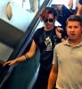 Short Haired Kristen Stewart Departing On A Flight At LAX