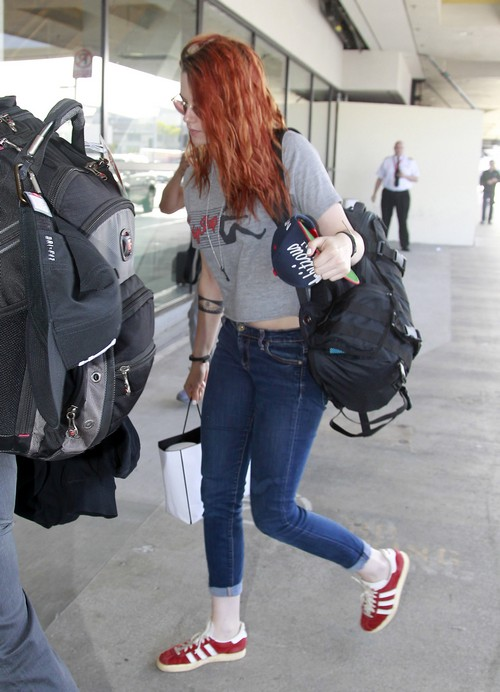 Kristen Stewart Catches A Flight At LAX