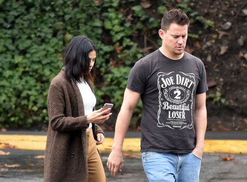 Channing Tatum & Jenna Dewan Tatum In Studio City