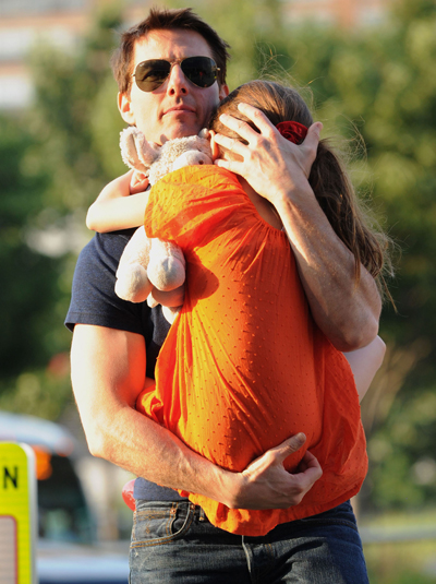 Tom Cruise Continues To Carry Suri Cruise Around Like A Toy Dog In The Hamptons