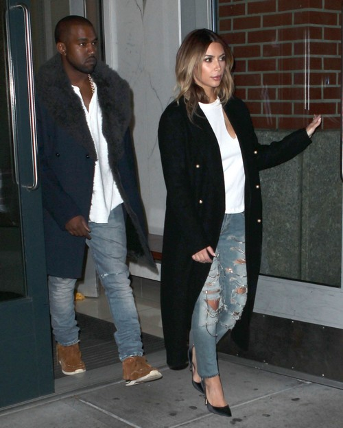 Kanye West Heads To His NYC Concert With Kim Kardashian