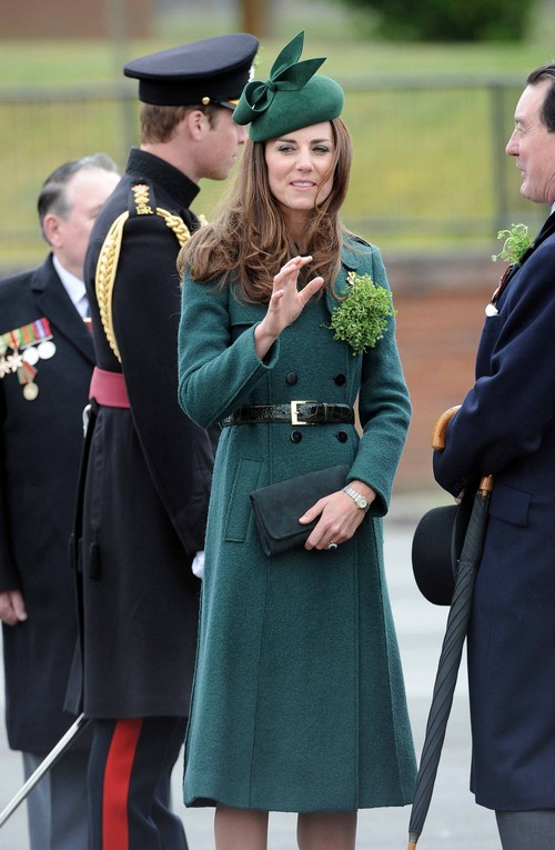 William Amp Kate Attend St Patrick S Day Parade Celeb