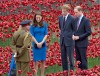 William, Kate & Prince Harry Visit Tower Of London's Ceramic Poppy Field
