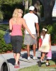 Tiger Woods & Lindsey Vonn Take His Kids Out