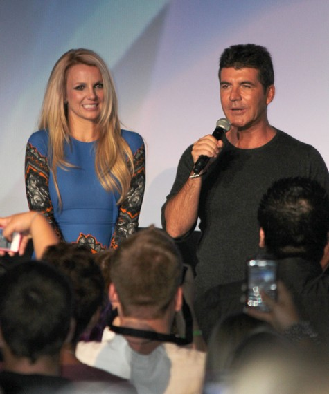 The X Factor USA's Simon Cowell Consoles A Depressed Britney Spears