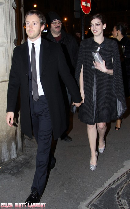 Anne Hathaway and Adam Schulman Celebrated Their Engagement in NYC