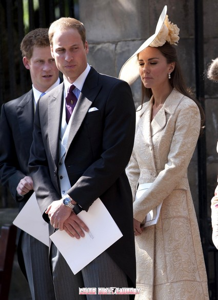 Prince Harry, Kate Middleton & Prince William Attend The Wedding of Zara Phillips - Photos