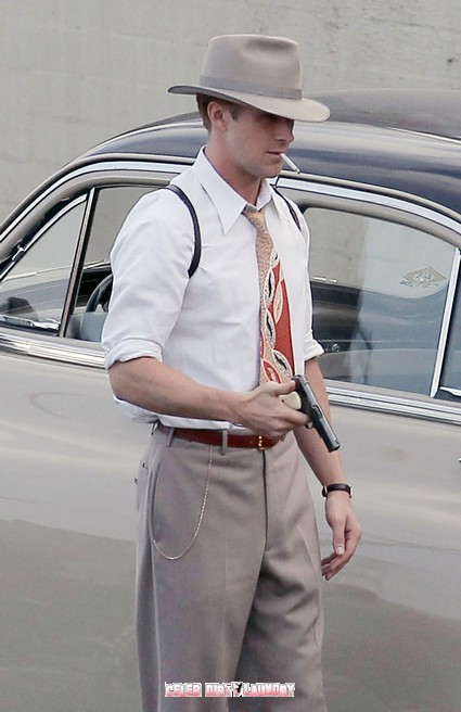 Ryan Gosling Shoots Scenes For The Gangster Squad