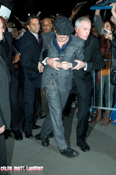 Johnny Depp's bodyguard Gets Hands On