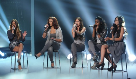 """Fifth Harmony The X Factor """"Impossible"""" Video 12/12/12"""
