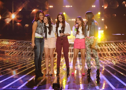 """Fifth Harmony The X Factor """"Top 8"""" Video 11/28/12"""