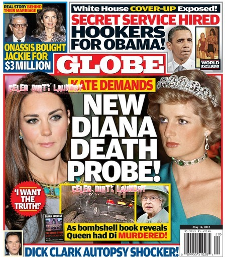 Globe Magazine: Kate Middleton Demands New Princess Diana Death Probe