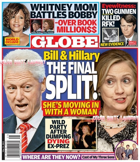 Globe: Bill Clinton and Hillary Clinton Over Another Women (Photo)