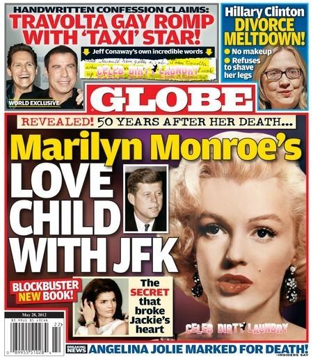 Globe Reveals Marilyn Monroe's Love Child With John F. Kennedy (Photo)